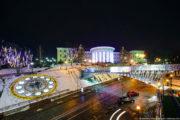 Цветочные часы на Майдане Независимости